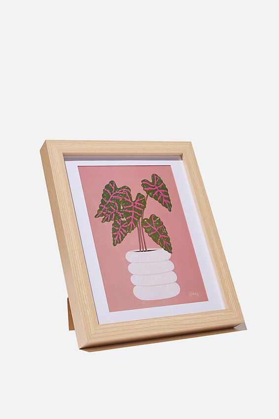 A5 Framed Print, POT PLANT