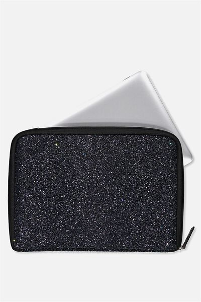 Buffalo 13 Inch Laptop Cover, BLACK GLITTER