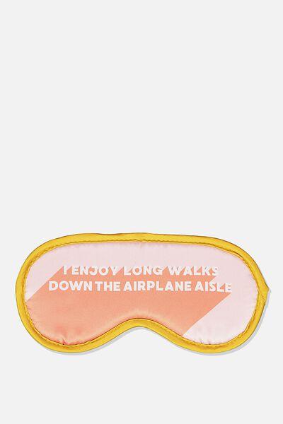 Premium Sleep Eye Mask, PINK SPLICE AIRPLANE AISLE
