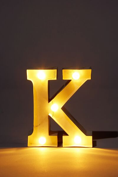 Mini Marquee Letter Lights 3.9inch, MARBLE K