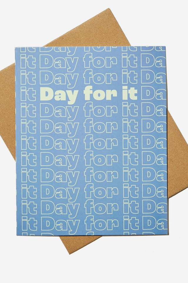 Nice Birthday Card, DAY FOR IT BLUE REPEAT