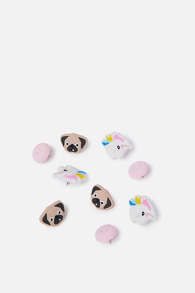 Push Pins, UNICORN DONUT PUG