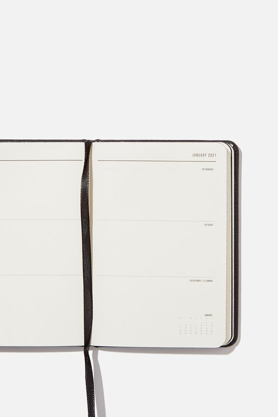 2020 21 A6 Weekly Buffalo Diary, BLACK