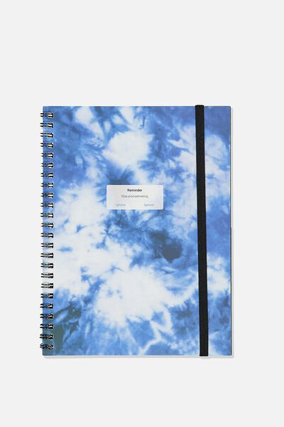 A5 Spinout Notebook Recycled, TIE DYE
