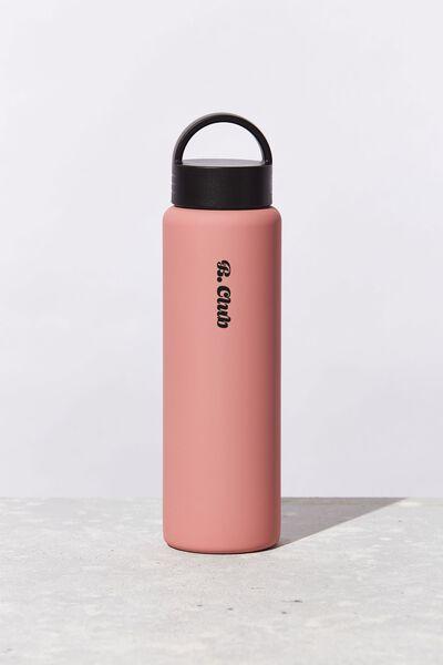 Personalised Gotta Go Metal Drink Bottle, DUSTY PINK