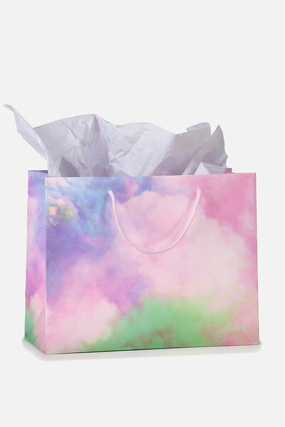Stuff It Gift Bag Medium With Tissue Paper, SMOKE CLOUD