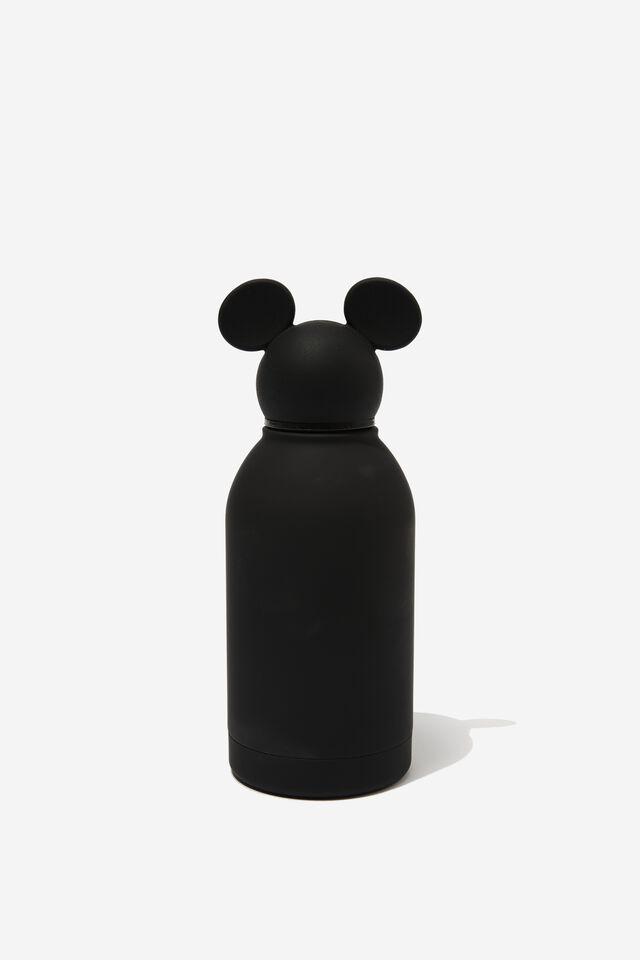 Premium Metal Drink Bottle 350Ml, LCN DIS MICKEY BLACK