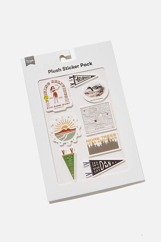 Plush Sticker Pack, SUN, SAND, SURF!!