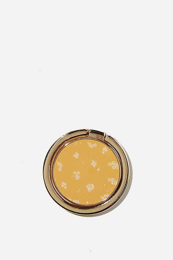 Metal Phone Ring, DOTTIE FLORAL MUSTARD