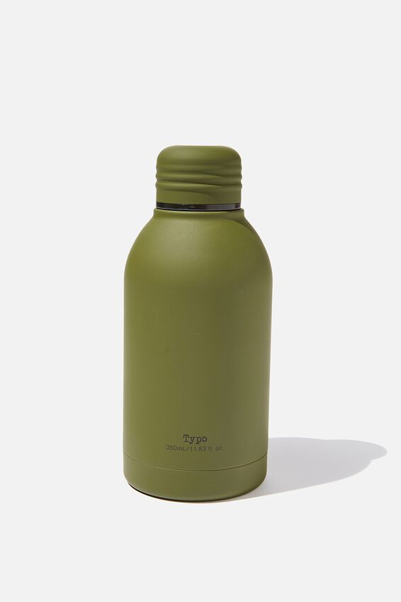 Mini Metal Drink Bottle, PL RUBBER KHAKI