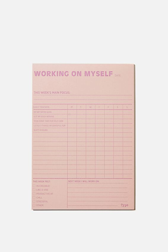 A5 Wellness Tracker, WORKING ON MYSELF