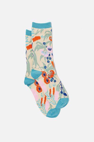 Socks, AUSTRALIAN NATIVE FLORAL