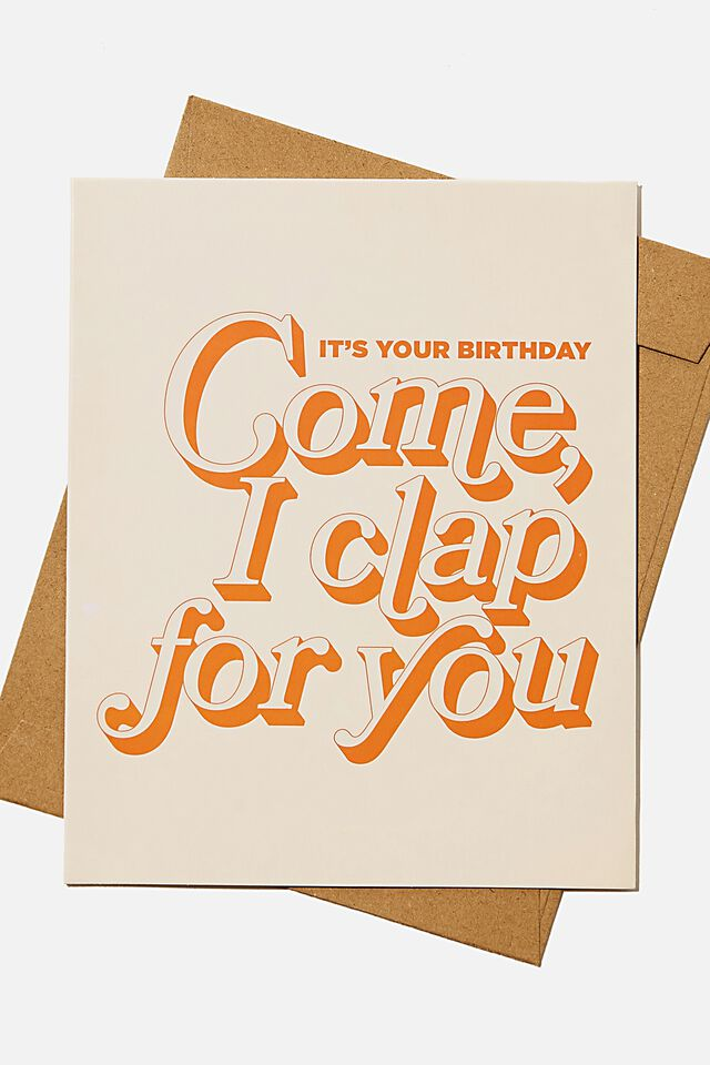 Funny Birthday Card, RG ASIA COME I CLAP FOR YOU