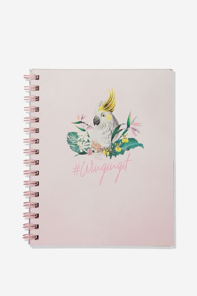A5 Campus Notebook, WINGING IT COCKATOO