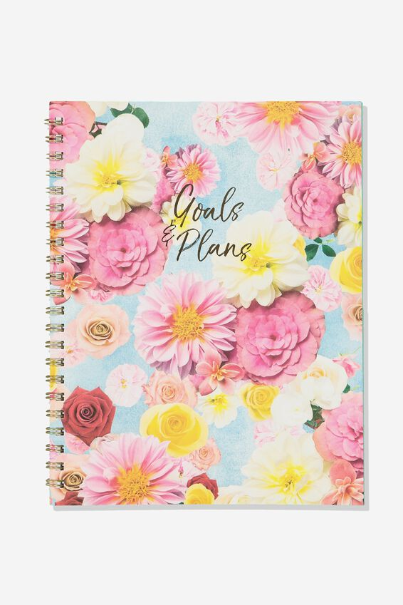 A4 Campus Notebook, FLOATING FLORAL