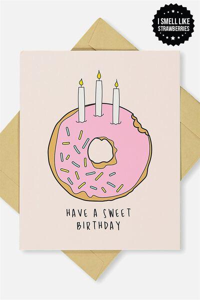 Premium Nice Birthday Card, SCENTED SWEET BIRTHDAY