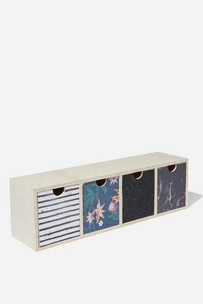 Quick Desk Drawer Storage, JUNGLE FLORAL