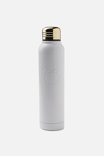 Small Metal Drink Bottle, LCN MICKEY EMBOSSED