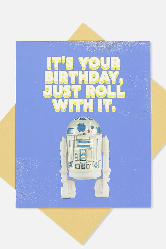 Star Wars Nice Birthday Card, LCN JUST ROLL WITH IT