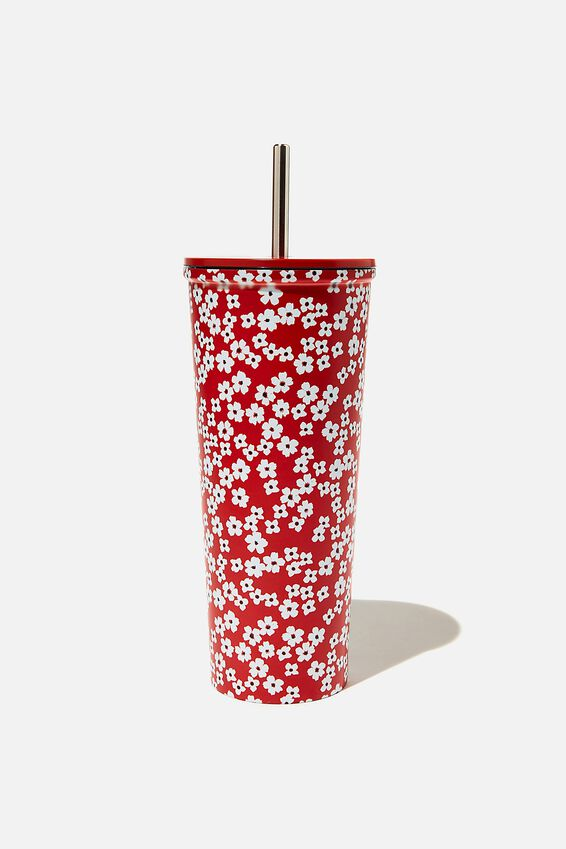 Metal Smoothie Cup, CHERRY BLOSSOM