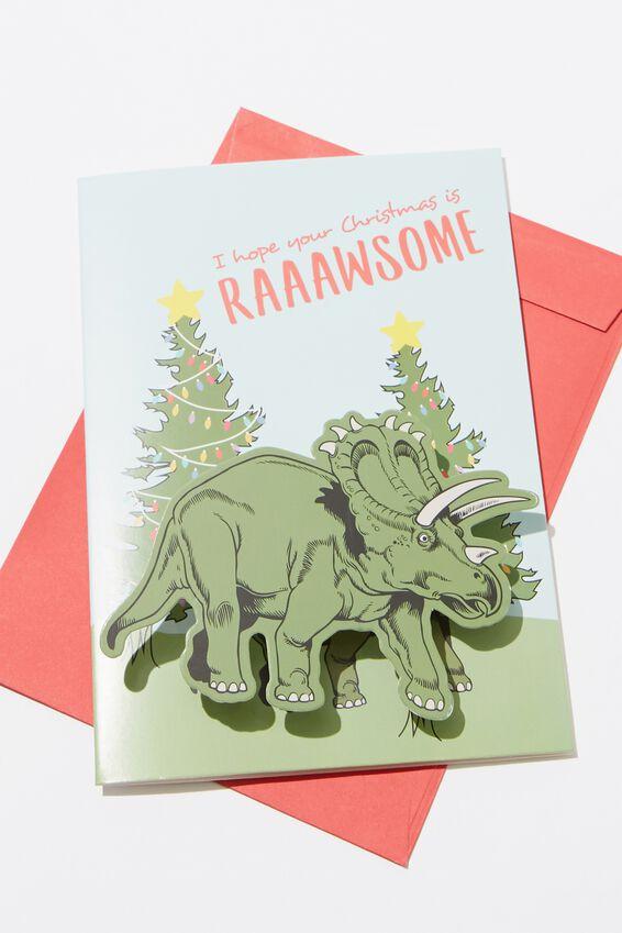 Christmas Card, DINO RAWSOME BOBBLE