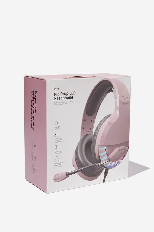 Mic Drop Led Headphone, DUSTY LILAC