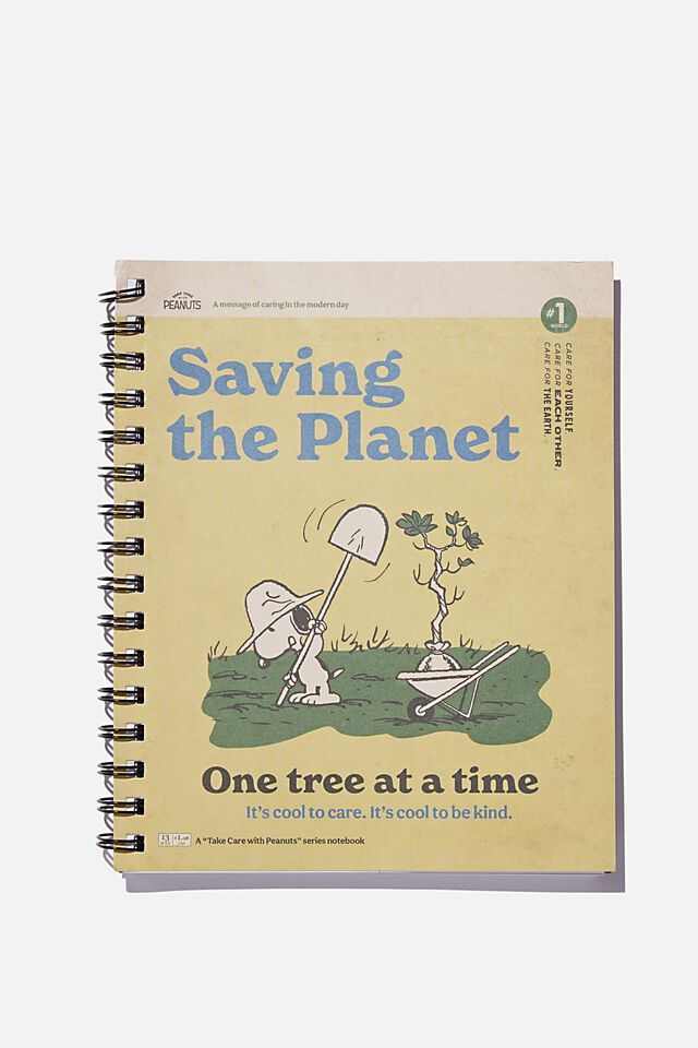 A5 Campus Notebook Recycled, LCN PEA SNOOPY SAVING THE PLANET