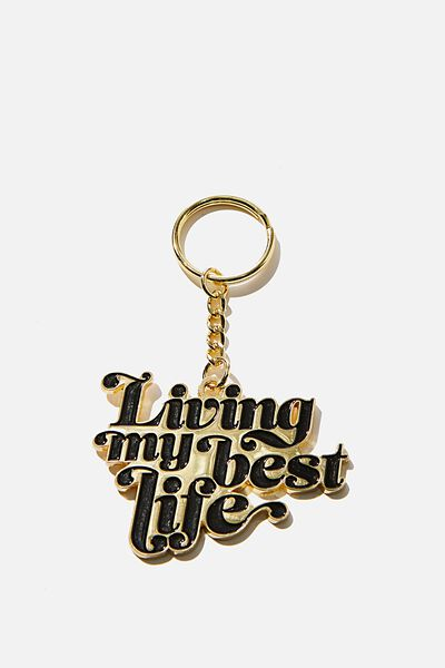 Enamel Keyring, CUT OUT BEST LIFE