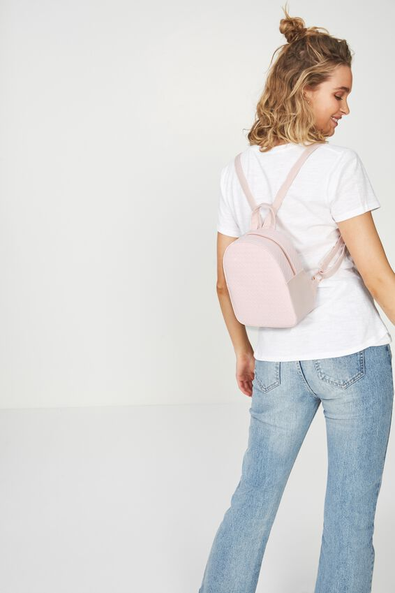 Mini Arch Backpack, BLUSH WEAVE