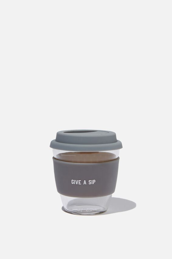 Give A Sip Cup 8Oz, GREY