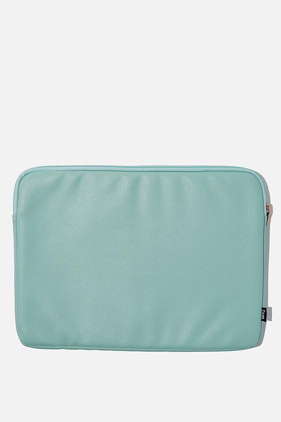 Personalised Take Charge 15 Inch Laptop Cover, MINT PERFORATED