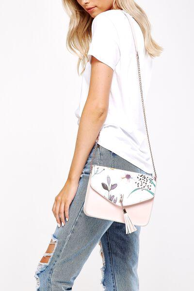 Cross Body Bag, FLORAL & PINK