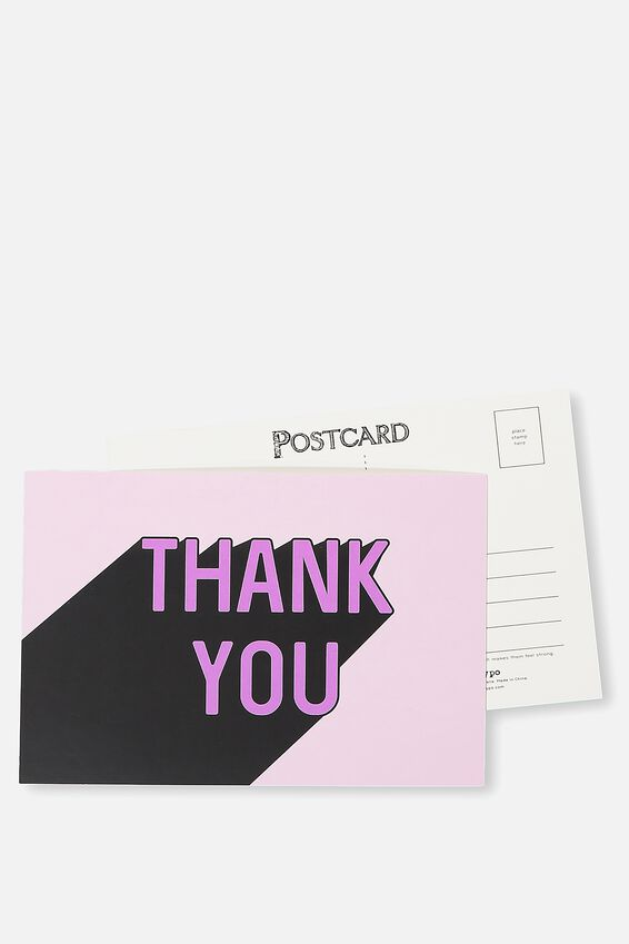 Postcard, THANK YOU