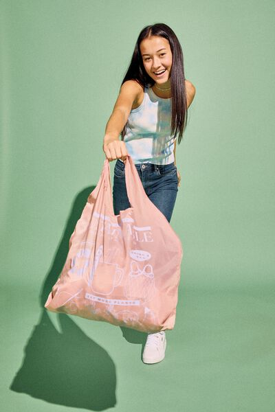 Foldable Shopper Tote, SUSTAINABLE STATE OF MIND