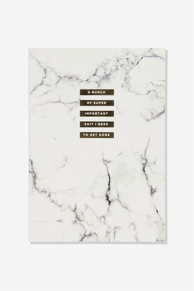 A4 Weekly Planner, WHITE MARBLE