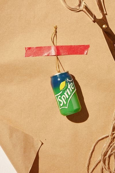 Resin Christmas Ornament, LCN COK SPRITE CAN