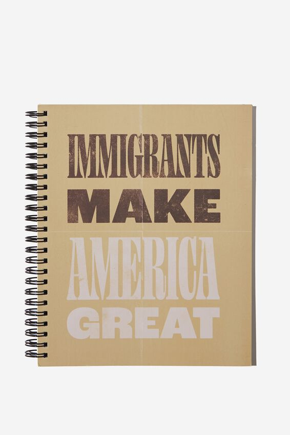 """A5 Campus Notebook-V (8.27"""" x 5.83""""), IMMIGRANTS MAKE AMERICA GREAT"""