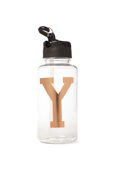 Alphabet Drink Bottle, ROSE GOLD Y