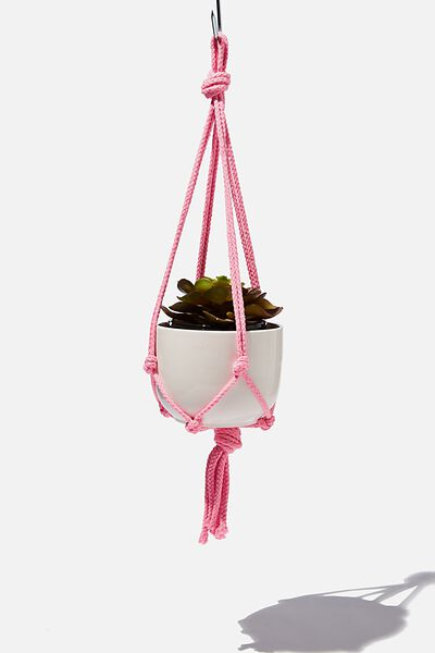 Diy Macrame Hanger With Pot, MACRAME ROPE & POT