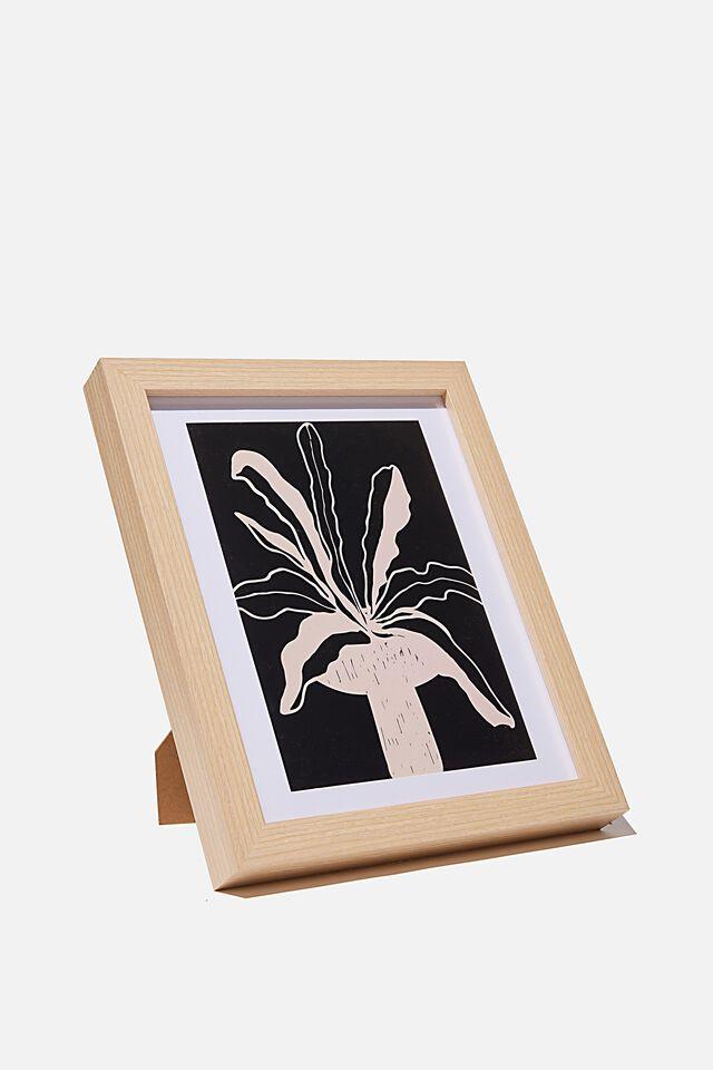 A5 Framed Print, MONO POT PLANT