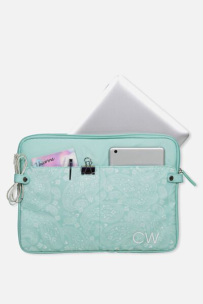 Personalised Varsity Laptop 15 Inch, AQUA LACE