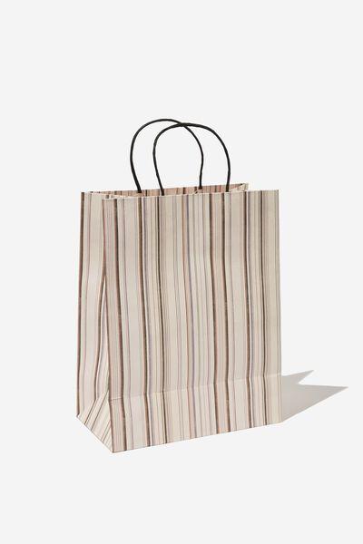 Get Stuffed Gift Bag - Medium, VARIEGATED STRIPE