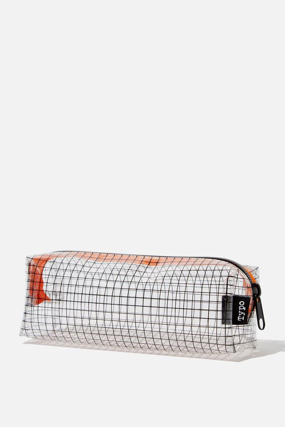 Clear Bailey Pencil Case, GRID