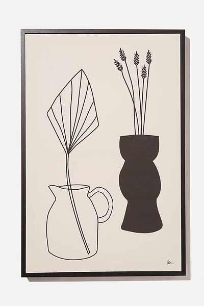 40 X 60 Canvas Art, BLACK & WHITE VASES