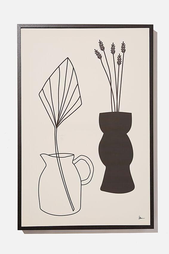40 X 60 Canvas Art, BLACK & WHITE VASES