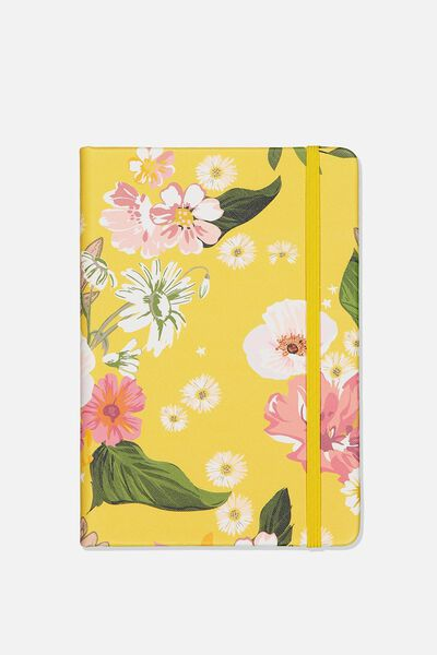 Medium Buffalo Journal, YELLOW FLORAL