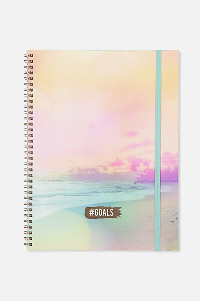 A4 Spinout Notebook - 120 Pages, ISLAND GOALS