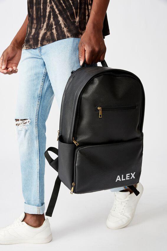 Personalised Formidable Backpack, BLACK