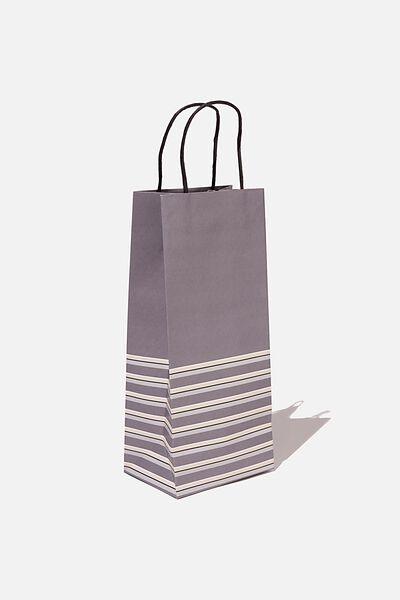 Bottle Gift Bag, SLATE MULTI STRIPE