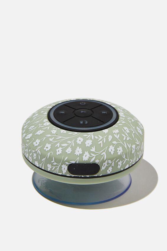 Wireless Led Shower Speaker, GUM LEAF MEADOW DITSY 2.0